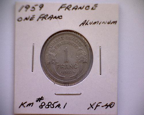 1959 FRANCE ONE FRANC