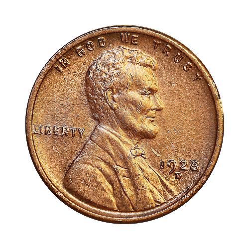 1928 D Lincoln Wheat Cent - Gem BU / MS / UNC