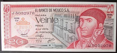 Mexico P64c 20 Pesos UNC62