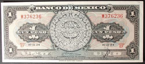 Mexico P56a Peso UNC63