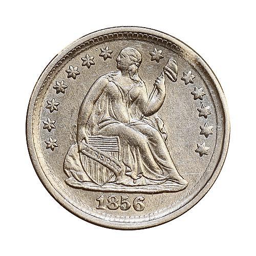 1856 Seated Liberty Half Dime - Choice BU / MS / UNC