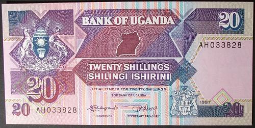 Uganda P29a 20 Shillings UNC65