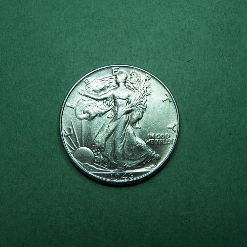 1946 P Walking Liberty Half Dollar AU Coin   s90
