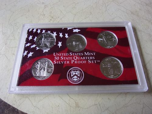 2001 S SILVER PROOF STATE QUARTERS