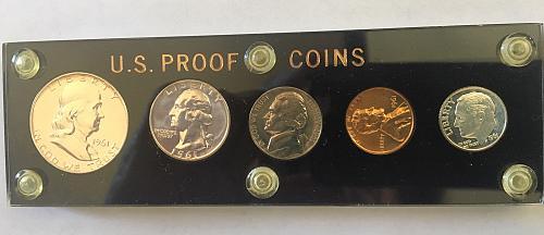 1961 U.S. Proof Set (in hard plastic holder)
