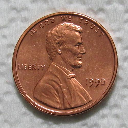 1990 1 Cent - Lincoln Memorial Cent - Uncirculated