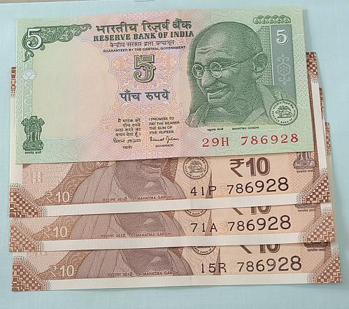 786928 x 4.. Uncirculated..India notes.