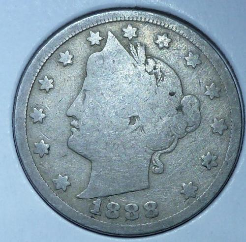 Here is a 1888 Liberty Nickel ( 13018)