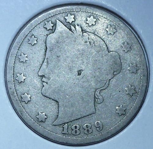 Here is a 1889 Liberty Nickel ( 15016)