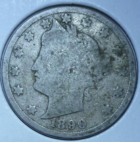 Here is a 1890 Liberty Nickel (17018)