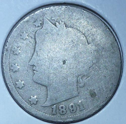 Here is a 1891 Liberty Nickel (19020)