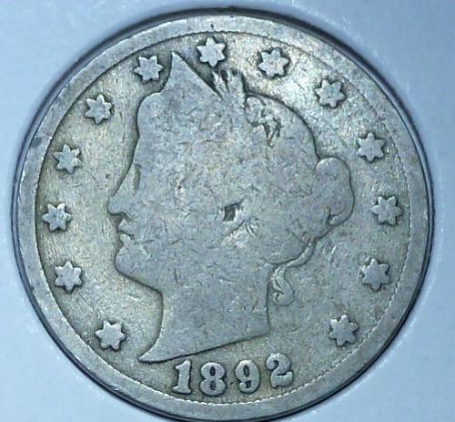 Here is a 1892 Liberty Nickel (21022)
