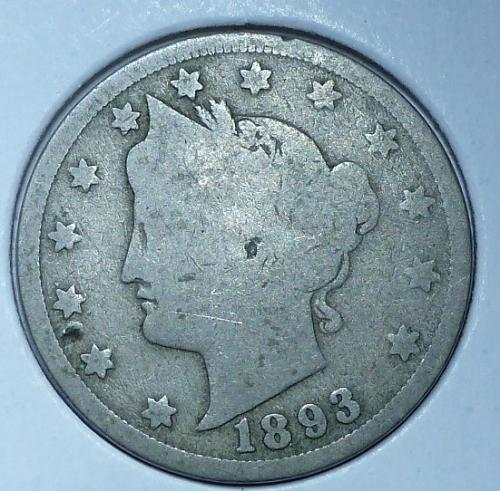 Here is a 1893 Liberty Nickel (23024)