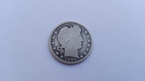 1894 P Barber Quarters