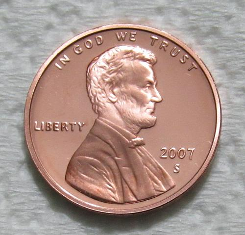 2007-S 1 Cent - Lincoln Memorial Cent - Cameo Proof
