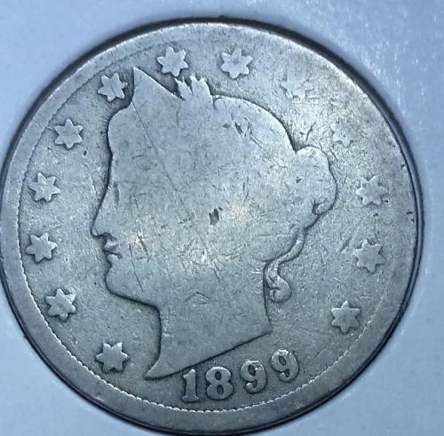 Here is a 1899 Liberty Nickel (3536)