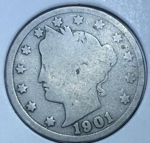 Here is a 1901 Liberty Nickel (3940)