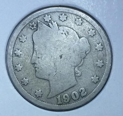 Here is a 1902 Liberty Nickel (4142)