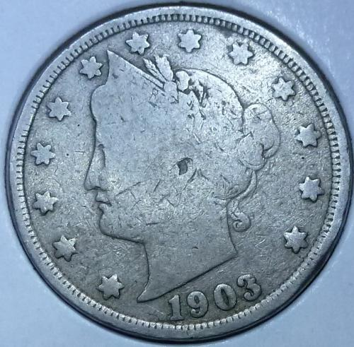 Here is a 1903 Liberty Nickel (4344)