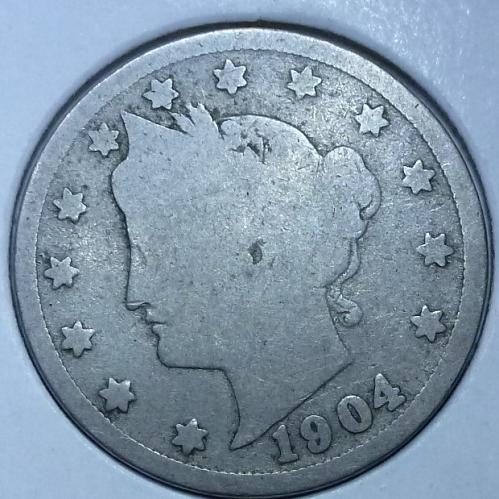 Here is a 1904 Liberty Nickel (4546)