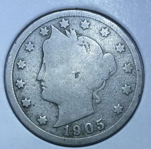 Here is a 1905 Liberty Nickel (4748)