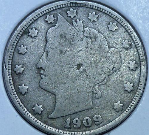 Here is a 1909 Liberty Nickel (5657