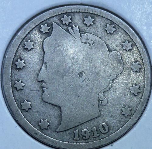 Here is a 1910 Liberty Nickel 5859
