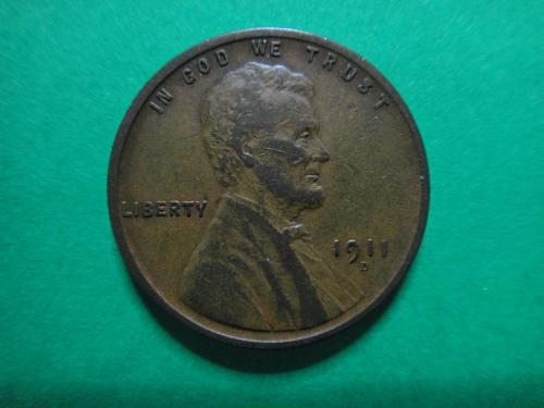 1911-D Lincoln Cent Very Fine-35 Very Nice Hair & Wheat Line Defintion . . .