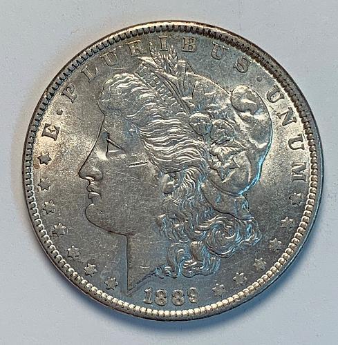 1889 Morgan Silver Dollar AU [MDL 43]