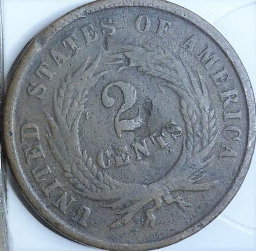 1864 Two Cent Piece in AG condition. ((643 _