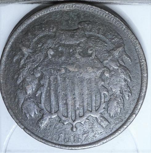1867 Two Cent Piece in AG condition. ((641) _