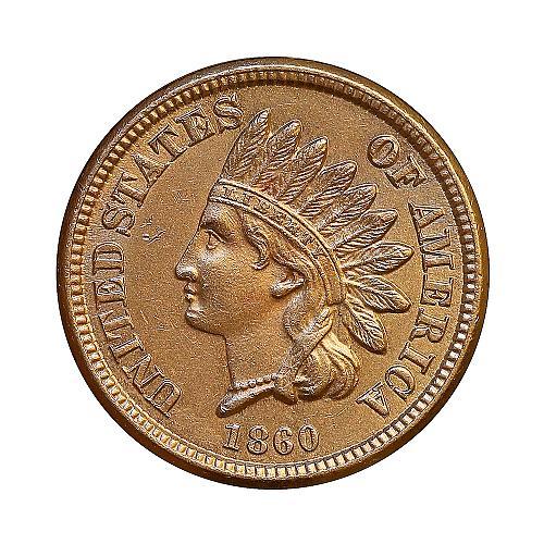 1860 Indian Head Cent - Gem BU / MS / UNC