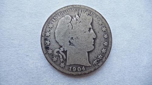 1904 Barber Half Dollar