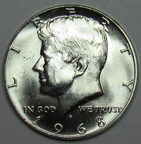 1968 D Kennedy Half Dollar in BU condition