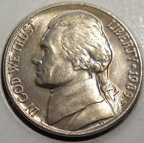 1989-P Jefferson Nickel
