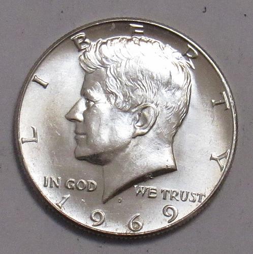 1969 D Kennedy Half Dollar in BU condition