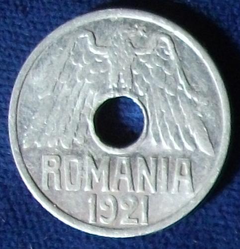 1921 Romania 25 Bani XF