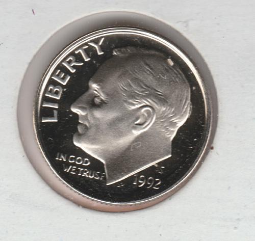 1992 S Roosevelt Dimes - #3