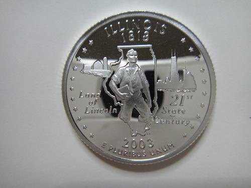 Statehood Quarter 2003-S Illinois SILVER Proof-65 (GEM)