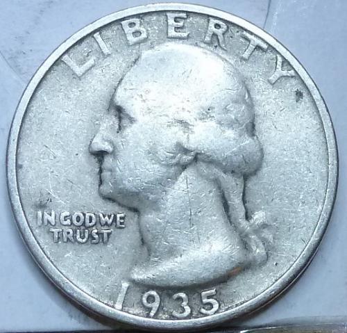 1935-P FINE Washington Quarter F # 509)