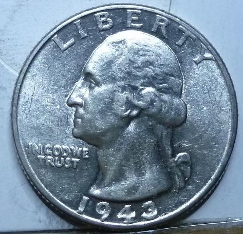 1943-P UNCIRCULATED Washington Quarter BU ( 546)