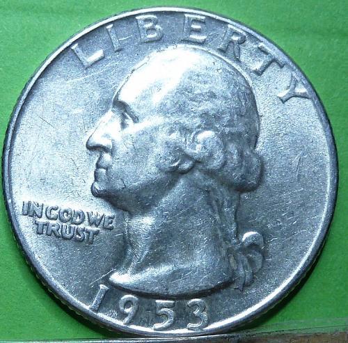 1953-P UNCIRCULATED Washington Quarter BU ( 557)