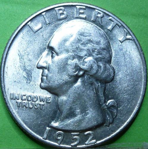 1952-D UNCIRCULATED Washington Quarter BU ( 555)