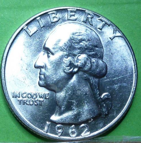 1962-D GEM BRILLIANT UNCIRCULATED Washington Quarter BU ( 576)