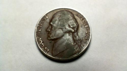 1948 P Jefferson Nickels
