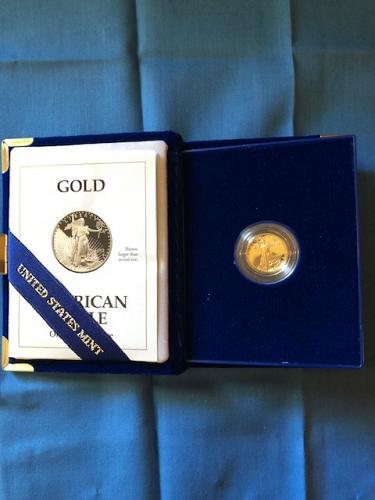1993 American Gold Eagle Proof Coin in Original U.S. Mint Box