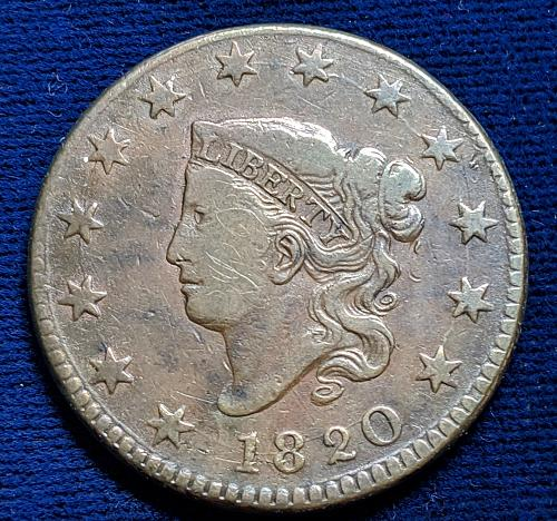 1820 LARGE DATE VERY FINE LARGE CENT