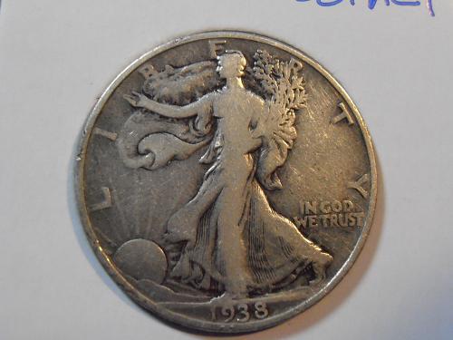 1938 P Walking Liberty Half Dollar (38PAC1)