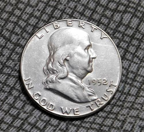 1952 P BEN FRANKLIN HALF DOLLAR
