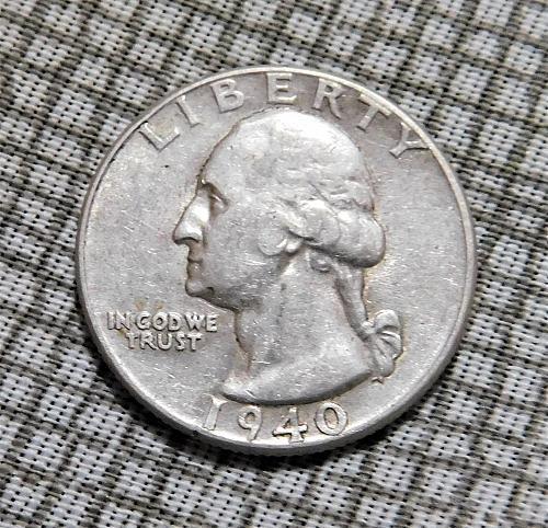 1940 P Washington Quarter Dollar,